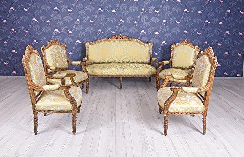 Antike Sofagarnitur Barock Sofa Sessel Sitzgarnitur Sitzgruppe Salon Möbel Einzelstück Palazzo Exklusiv