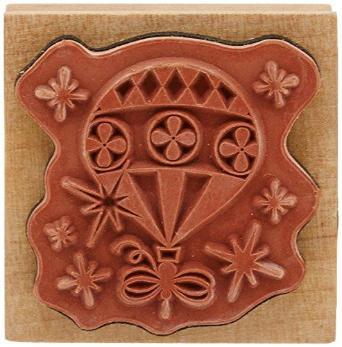 Rico Design Tampon en bois Boule de Sapin de Noël Nature