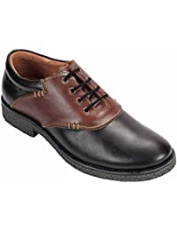 tZaro Black Corporate Casual Leather Shoes