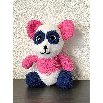 """Kuscheltier Panda """"Kuschelknuff"""" – Mini-Glitzer-Glotzie zum Kuscheln und Liebhaben – auch als Geschenk geeignet – reine Handarbeit"""