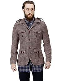 Brown Color 100 % Genuine Woolen Coat For Men By Bareskin