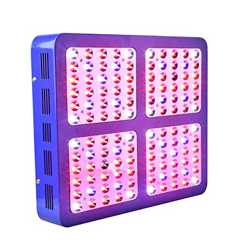 CrxSunny Reflector 1200W Dual Chips LED Grow Light LED Pflanzenlampe Full Spectrum wachsen für Zimmerpflanzen Gemüse und Blumen (10W LEDs)