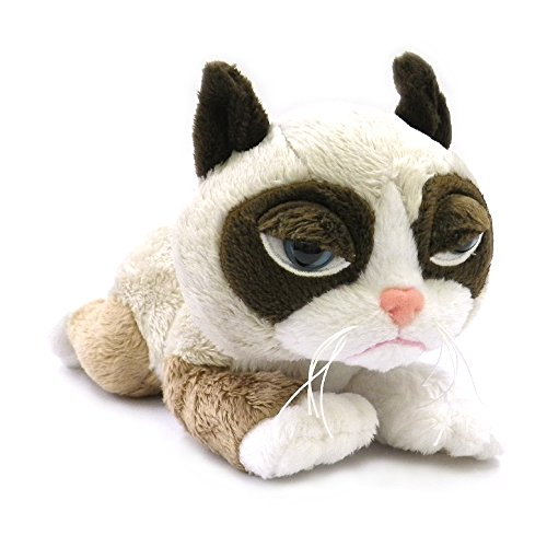 Ganz Grumpy Cat Laying Plush, 8 by Ganz