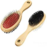Pet Wholesale Imported Fur Shedding Both Sided Hair Brush Comb For Dogs, Cats And Rabbits (Color May Vary)
