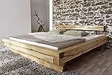 SAM Massiv-Holzbett 160x200 cm James, Bett aus geölter Wildeiche