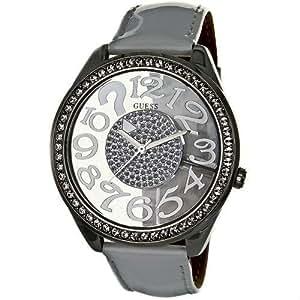 Guess Damen-Armbanduhr XS Analog Quarz Leder W11143L2