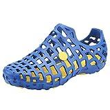 YiLianDa Zuecos Zapatillas Hombre Sandalias para el tiempo libre de Andar por Casa de Jardín Azul 43