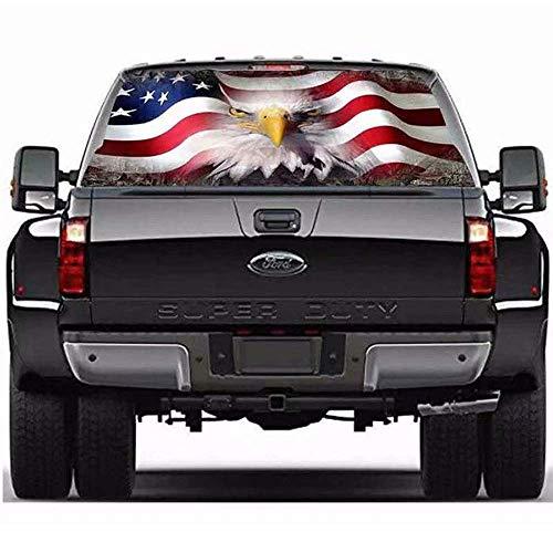 Auto Heckscheibe Amerikanische Flagge Adler Vinyl Aufkleber Aufkleber Dekoration Abzeichen Zubehör Für LKW Auto SUV Jeep,64.96inchx22.04inch (Heckscheibe Aufkleber Jeep)