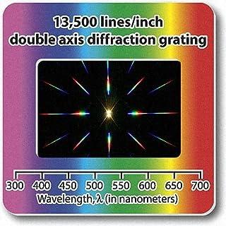 10 X Beugungsgitter-Dias,Doppelachse, 13'500Linien/2,5 cm (1 Zoll)