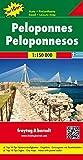 Peloponnes, Autokarte 1:150.000, Top 10 Tips, freytag & berndt Auto + Freizeitkarten