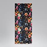 SCHÖNER LEBEN. Vorhang Vorhangschal mit Smok-Schlaufenband Digitaldruck Blumen 245cm Oder Wunschlänge