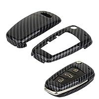 TOMALL Carbon Fiber Cover For Audi A3 A4 A6 A8 TT Q7 Smart Remote Key case