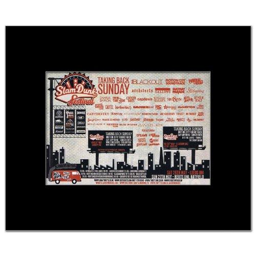 Taking Back Sunday Poster (SLAM DUNK FESTIVAL - 2012 - Taking Back Sunday Matted Mini Poster - 21x13.5cm)