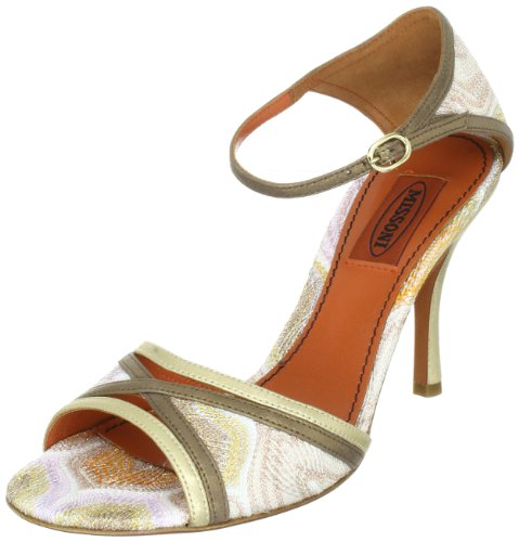 Missoni SANDALO T.90 INCROCIO TM16 C Damen Sandalen Gold (Oro)