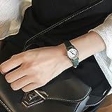Zxzays Kleines Zifferblatt Kurze Frauen Uhren Version Quartz Frau Uhr Damen Retro Armbanduhren Lederband, grün