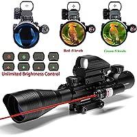 IRON JIA S Lunettes de visée airsoft Fusil tactique 4-12X50EG Portée avec  arme Combo Holographic a3e46668d503