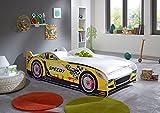 Relita BK14751103 Bett, Autobett Holzwerkstoff, gelb, 85 x 170 x 50 cm
