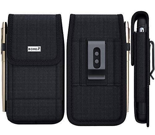 Bomea Gürteltasche für iPhone XR, aus Nylon, mit Gürtelclip und Schlaufe, für Apple iPhone XR, Schwarz - Apple Iphone Schwarz Holster