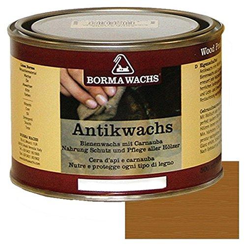 Ellas-Wohnwelt Bienen Wachs Antikwachs Carnauba Paste 500 ml Borma Möbel Holzpflege mittelbraun