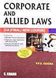 Corporate and Allied Laws: CA (Final) New Course