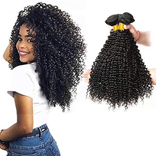 Lvy capelli umani capelli brasiliani vergini 3 fasci di capelli umani ricci extension tessitura capelli veri totale 300g 25 30 35 cm