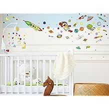 "Wandtattoo 11281 /""Ufo-Set/"" Wanddeko Kinderzimmer Jungen Baby"