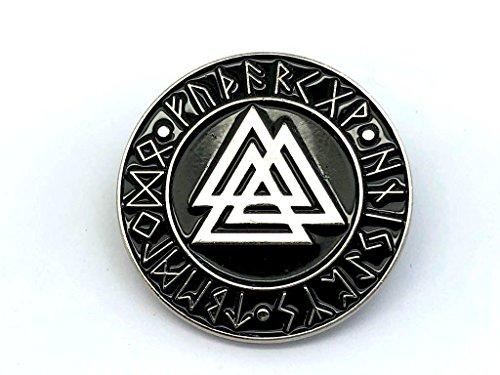Valknut Knot des Erschlagenen Wikingers Silber Metal Pin Badge (Metal-guard)