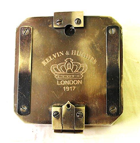 Asmara nautica street craft kelvin & hughes sinusoidale brunton-bussola 1917bussola in ottone mineraria compasso, brass pocket compass outdoor navigation tools.