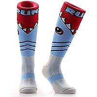 Samson calcetines de medias de ataque de tiburón FUNKY de balón de fútbol y de manga corta para hombre COLOR pantalones de deporte para mujer calcetines de KID balón de fútbol sala