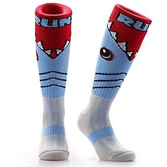 47c672bb45a6 Samson Hosiery ® Shark Attack Print Funky Novelty Fashion Gift Socks ...