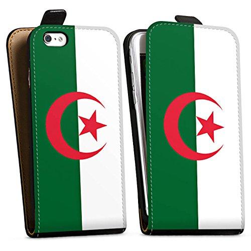 Apple iPhone X Silikon Hülle Case Schutzhülle Algerien Flagge Fußball Downflip Tasche schwarz