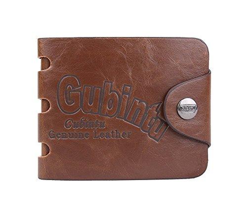 Genda 2Archer Herren Soft-Tasche Bifold Brieftasche Vintage-Knopfverschluss ID Kreditkarteninhaber (Style 5) Style 7