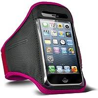 Fone-Case HTC One M7 verstellbaren Sport Fitness Jogging Arm Band Hülle (Hot Pink)