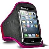 ONX3 ® Huawei Ascend G6 regolabile Sport Fitness Jogging fascia di braccio Caso (Hot Pink)