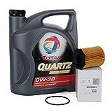 Pack original DUO huile moteur TOTAL quartz ineo first 0W-30, 5 litres + Filtre huile Original 1109 AY moteurs 1.4/1.6HDi