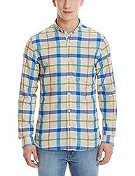 United Colors of Benetton Mens Casual Shirt (8903975112735_16P5AC06U008I_L_Beige)