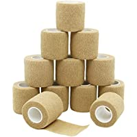 YuMai Kleber Elastische Bandage, 12 Roll x 5cm, Medizinische Cohesive Bandage, Athletic Bandagen - Nude preisvergleich bei billige-tabletten.eu