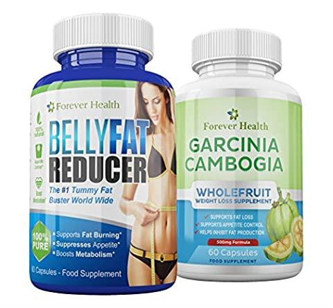 BELLY FAT REDUCER + Garcinia Cambogia WHOLEFRUIT - Lose That Stubborn Fat and Get A FLAT STOMACH FAST ! Works For MEN and WOMEN ! Specially Formulated For To Target That Hard To Shift STOMACH & TUMMY FAT ! 60 x BELLY FAT REDUCER Slimming Tablets + 60 x GARCINIA CAMBOGIA Diet Pills - Contains GREEN TEA EXTRACT and GUARANA EXTRACT it Burns Through TUMMY FAT Like WILDFIRE ! Lose Up 5 Kilos In 12 Weeks ! AMAZING STRONG Fat Burner - FREE UK DELIVERY + FREE Diet Plan - BELLY FAT REDUCER Diet Pills