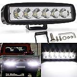 Barre lumineuse de travail de YuanGu 18W LED mince 12V 24V outre de la barre de lumière de route lumière imperméable à l'eau de faisceau de tache de voiture LED pour le bateau de camion de voiture
