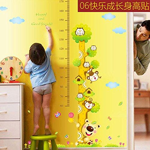 Sticker mural amovible JinTie grand monde animal Affiches de murs papier peint de la chambre des enfants de la classe de maternelle sont heureux de grandir,06 fit, très grand