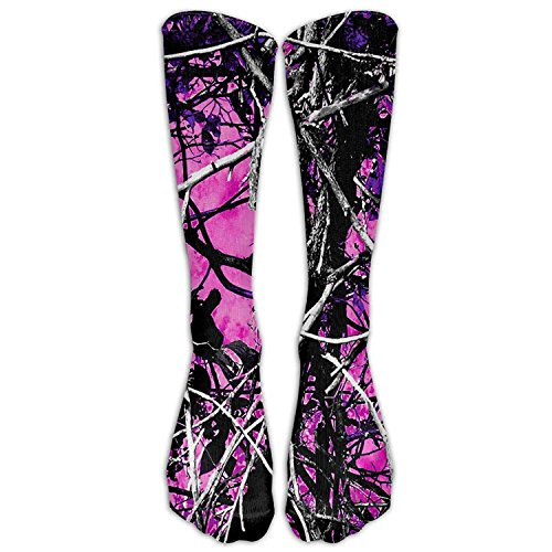 Style Unisex Socks Casual Knee High Stockings Muddy Girl Country Camo Cotton Socks One Size