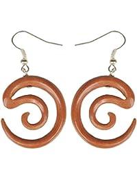Ohrringe aus Sabo-Wood