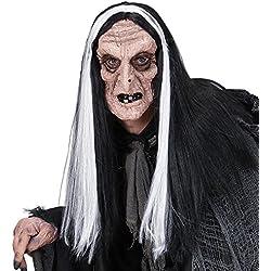 Peluca de bruja con máscara, talla única.