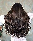 Remy Haar Echthaar Clip in Haarverlängerung 7pcs Pro Set 120G # 2 Dunkelbraun Haarverlängerungen Straight 100% Clip in Extensions Echthaar 14Zoll/35cm