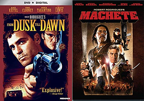 """""""What Were They Psychos?""""- Movie Collection - Machete & From Dusk Till Dawn (GRINDHOUSE CLASSICS Double Feature DVD Bundle)"""