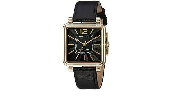 Marc Jacobs Vic Femme 30mm Bracelet Cuir Noir Quartz Analogique Montre  MJ1522  Amazon.fr  Montres fe7b632e4a93