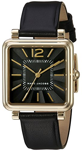 Marc Jacobs Vic Femme 30mm Bracelet Cuir Noir Quartz Analogique Montre MJ1522