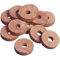 CEDAR WOOD RINGS 12 PACK NATURAL MOTH INSECT DETERRENT REPELLER FRESH CLOTHES