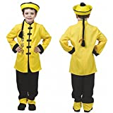 Krause & Sohn Kinderkostüm Chinese Gr.164 Tunika Gelb Hose Asiaten Kostüm China