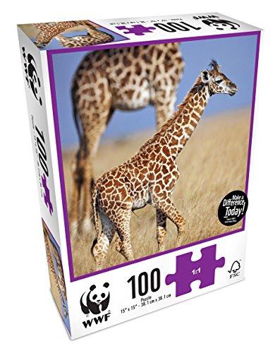 WWF - Jirafas, Puzzle de 100 Piezas (Neo WWF103)